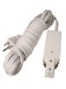 Halo Compatible Wired End - White Color - Halo Track System - Liteline H-WE6110-WH